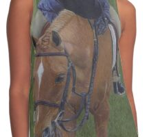 Young Girl and Pony Painting Contrast Tank