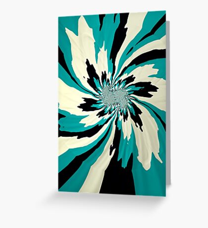 Teal Starburst Greeting Card
