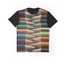 Horizontal Colored Pencils Graphic T-Shirt