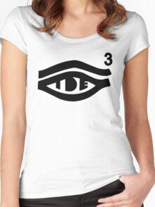 TDE Hiii Power Logo 3 Women's Fitted Scoop T-Shirt