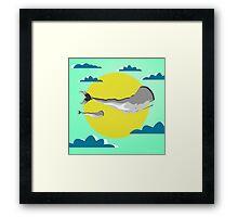 whale life  Framed Print