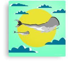 whale life  Canvas Print