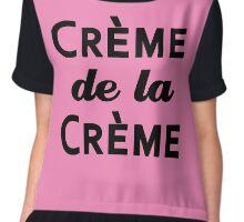 Creme de la Creme in Pink and Black Chiffon Top
