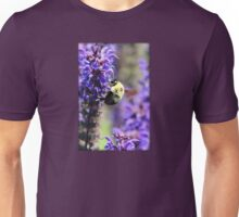 Bee Collecting Pollen From Purple Flower Unisex T-Shirt