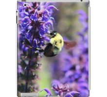 Bee Collecting Pollen From Purple Flower iPad Case/Skin