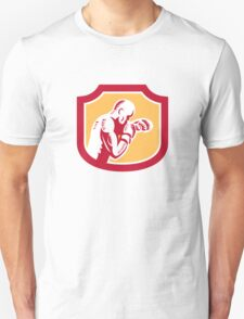 Boxer Boxing Jabbing Punch Side Shield Retro Unisex T-Shirt