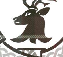 Fraser Motto (Tartan Detailed on White) Sticker
