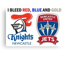 Newcastle - I Bleed Red, Blue and Gold Canvas Print