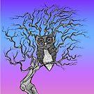 Watching Owl by Octavio Velazquez