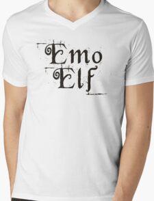 EMO ELF (Critical Role Fan Design) (Black) Mens V-Neck T-Shirt