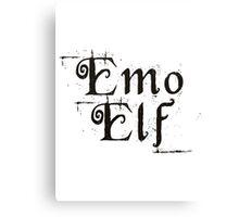 EMO ELF (Critical Role Fan Design) (Black) Canvas Print