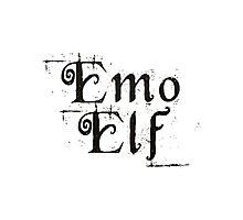 EMO ELF (Critical Role Fan Design) (Black) Photographic Print