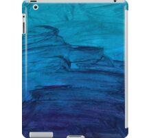 Blue Watercolor Texture iPad Case/Skin