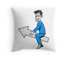 successful winner winning career Throw Pillow