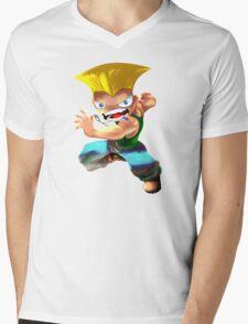 Guile Mens V-Neck T-Shirt