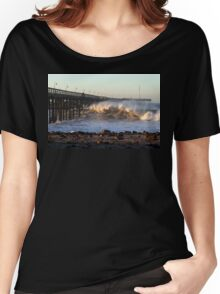 Ocean Wave Storm Pier Women's Relaxed Fit T-Shirt