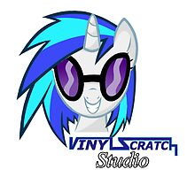 Vinyl Scratch Studios Pillow by Steven Hoag