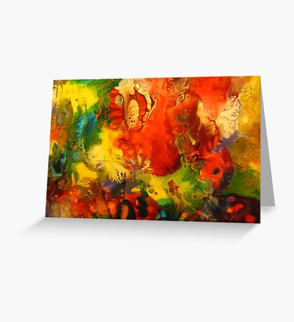 Colorful Abstract Modern Contemporary Fine Art Greeting Card
