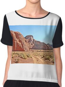 A Navajo's Home in the Valley Chiffon Top