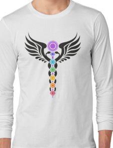 Caduceus - Kundalini - 7 Chakras Long Sleeve T-Shirt