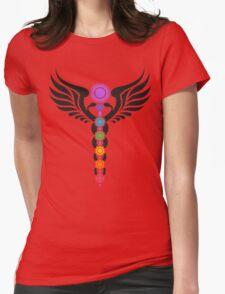 Caduceus - Kundalini - 7 Chakras Womens Fitted T-Shirt
