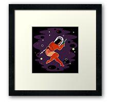 Raygun Rima / Dark Skies, Thick Thighs Space Print Framed Print