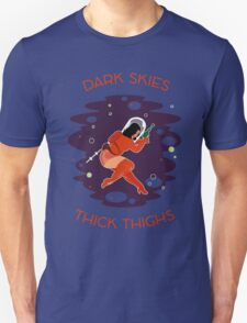 Raygun Rima / Dark Skies, Thick Thighs Space Print Unisex T-Shirt