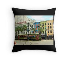 New Orleans Cable Car... Throw Pillow