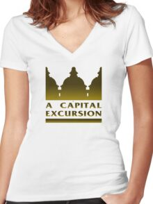 A Capital Excursion Women's Fitted V-Neck T-Shirt