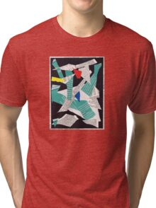 Collage abstract multicolor 3232 Tri-blend T-Shirt