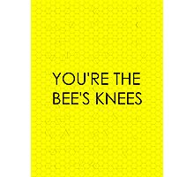 You're the Bee's Knees (Honeycomb Background) Photographic Print