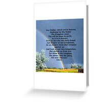 The Lords Prayer Greeting Card