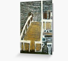 gold jetty Greeting Card