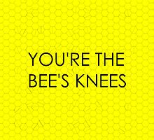 You're the Bee's Knees (Honeycomb Background) by Haley Marshall