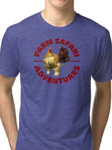 Farm Safari Adventures Tri-blend T-Shirt