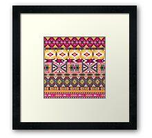 Navajo tribal pattern  Framed Print
