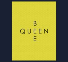 """""""Queen Bee"""" with Honeycomb Background Kids Clothes"""