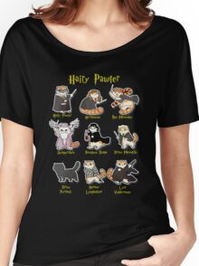 Hairy Pawter Meow 9 Characters Women's Relaxed Fit T-Shirt