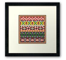 Navajo colorful  tribal pattern  Framed Print