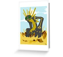 Nazca Tree Earthbound God Greeting Card