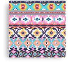 Navajo colorful  tribal pattern Canvas Print