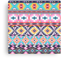 Navajo colorful  tribal pattern Canvas Print