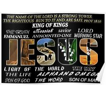 † ❤ SOME NAMES JESUS IS KNOWN BY VARIOUS APPAREL † ❤  Poster