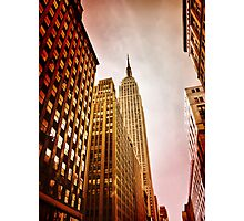 NYC including Empire State Building  Photographic Print