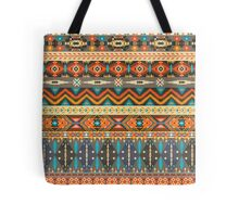 Colorful  tribal pattern with geometric elements Tote Bag