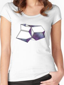 Space Folded Women's Fitted Scoop T-Shirt