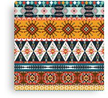 Seamless colorful  native american pattern  Canvas Print