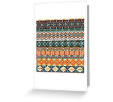 Native american colorful  tribal pattern  Greeting Card