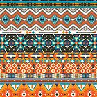 Native american colorful  tribal pattern  by tomuato