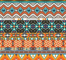 Native american colorful  tribal pattern  by Olena Syerozhym